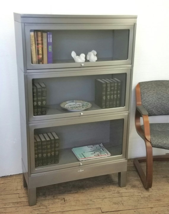 Metal Barrister Bookcase 3 Stack By Urbanfactoryclassics