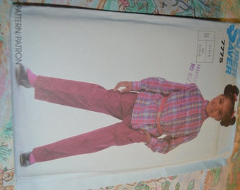 Super Saver 7775 Shirt and Pull on Pants Sewing Pattern - UNCUT - Size 4 5 6