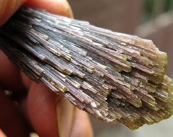 "Long 3.25 Inch ""Broom"" Tourmaline, Mutuca Mine, Santa Rosa, Brazil"