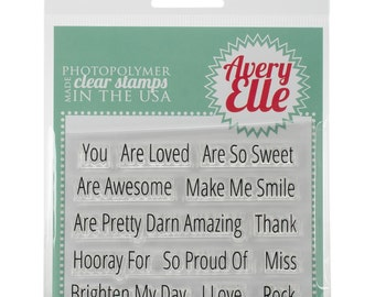 Avery Elle STamp Set Simply Said You