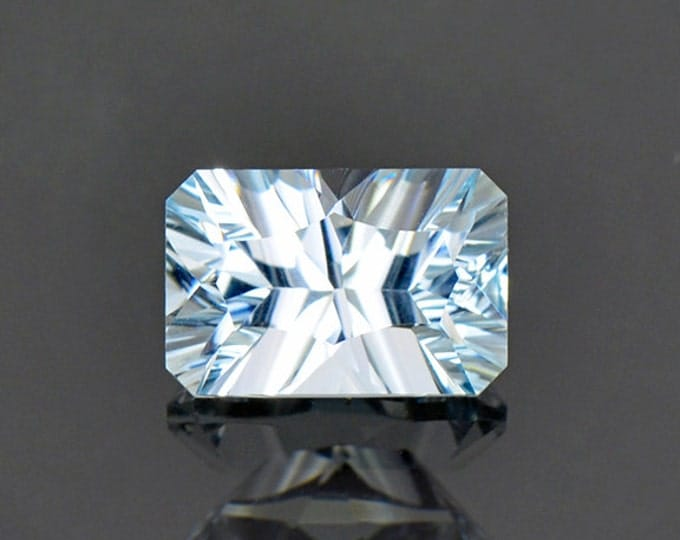 Bright Concave Cut Aquamarine Gemstone from Pakistan 2.05 cts.