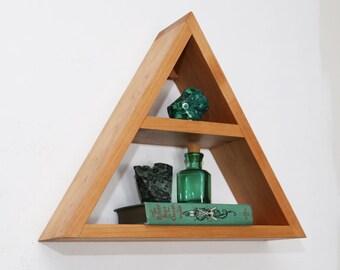 Triangle Shelf - Geometric Wood Wall Decor - Modern Shelving
