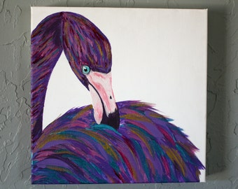 Flock Together - Orginal Acrylic Flamingo Painting