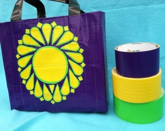 Mandala Inspired Purple Purse -Ready to Ship Yoga Gift - Geometric Purse - College Student Gift  - Gifts for Women - Duct Tape Geek Purse