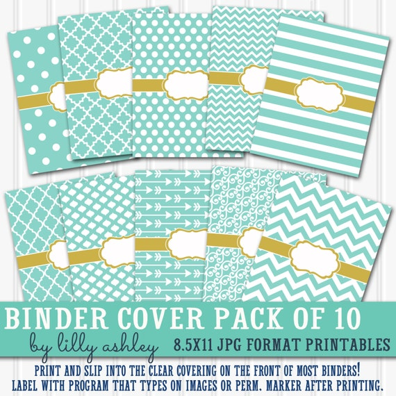 Binder Cover Printables SET 8.5X11-JPG Format Not