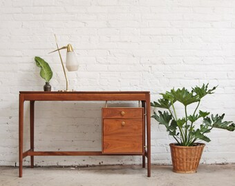 Walnut Mid Century Desk