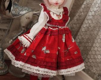 Raspberry, dress set for Rosenlied holiday girl, in stock