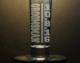 Groomsman Gift Set of 11 Shot Glasses, Groomsmen Shot Glass, Bachelor Party Gift, Will You Be My Groomsman