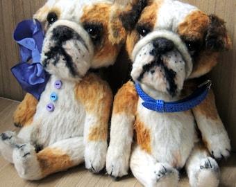 Video master-class Teddy bulldog.  Artist teddy bears. Animalistic gifts. Bulldog pattern. Soft toy pattern. Teddy bear pattern