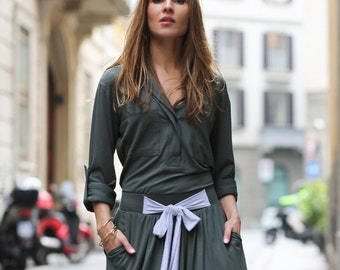 maxi skirt PRETTY RISK military green