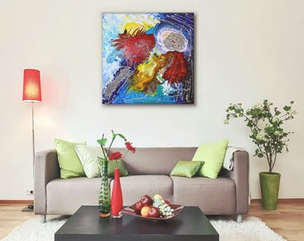 Abstract painting abstract art abstract wall art canvas painting bold colorful