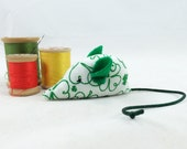 Cat toy, Saint Patrick's Day cat toy, Irish cat toy, St Patty's mouse, shamrock fabric, green white