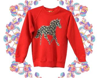 Children's Running horses jumper in Red