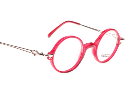 Kenzo NOS round translucent red or blue eyeglasses frames with