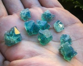 Flash Sale 50% OFF ! ! ! Color Changing Rogerley Fluorite.Cubic Green/Blue Fluorite Gemmy Clusters.