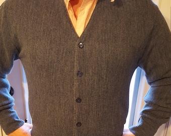 Blue Grey Arnold Palmer Cardigan