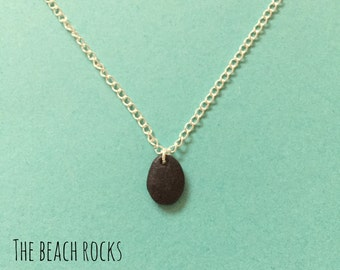 Dainty California Beach Rock Necklace