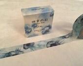 "Dark Blue Jellyfish Washi Tape - Seasons Color - 15 mm x 7 m (5/8"" x 7.6 yds) - Inspired by Japanese Iroshizuku Ink Shin-kai"