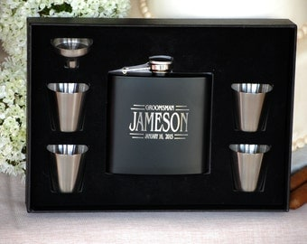 Gifts for Him, Personalized Wedding Flask, Groomsmen Gift, Flasks, Custom Engraved Flask, Personalized Flask, Wedding Flasks, Groom Gift