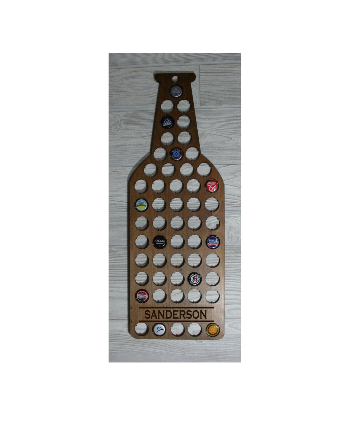 Beer Bottle Shaped Cap Wall Decor/Laser By DakotaExpressions1