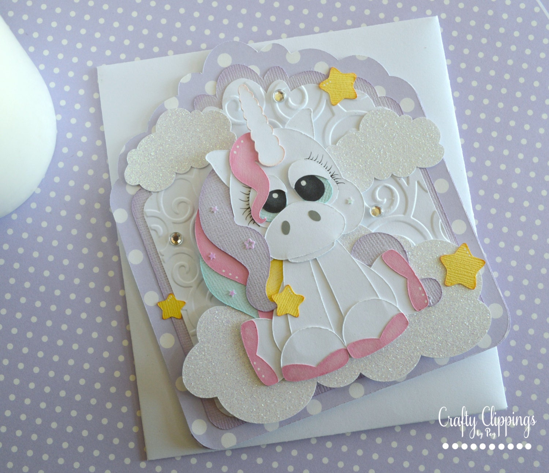 unicorn card unicorn gift unicorn birthday card handmade