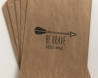 Be Brave Little One 4x6 Favor Bags, Set of 25