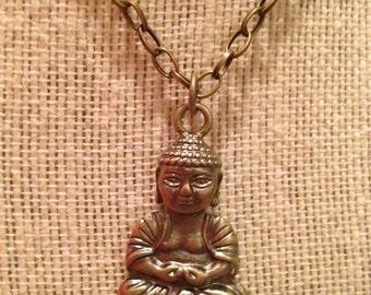 "24"" Bronze Buddha Necklace"