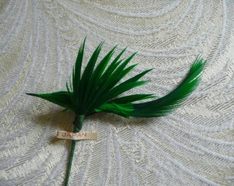 Vintage Bird Millinery Decoration Green Feathers for Hats Fascinators Crafts Hair Clips