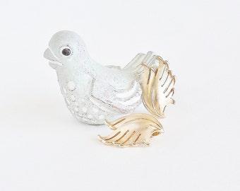 CROWN TRIFARI Golden Feather Earrings