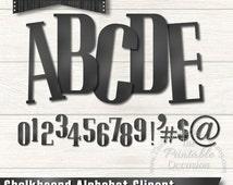 Chalkboard Digital Alphabet Clipart - INSTANT DOWNLOAD