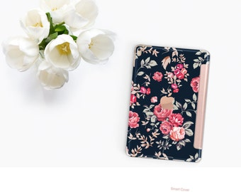 Platinum Edition Richmond Rose Navy Blue with Rose Gold Smart Cover Hard Case for iPad Air 2, iPad mini 4 , iPad Pro , New iPad 9.7 2017