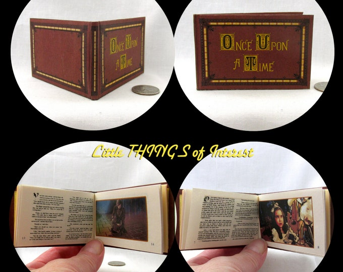 ONCE UPON A TIME Illustrated Readable Book in 1:3 Scale Miniature Book American Girl Doll 18 inch Ag Doll 1/3 Scale