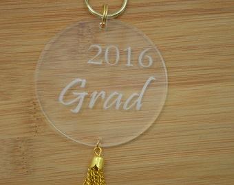 Tassel Acrylic Graduation 2016 Keychain