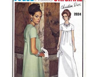 1960s Vogue Paris Original pattern 2024, Christian Dior dress pattern 34 inch bust, factory folded