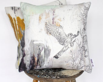 American Kestrel - Linen Cushion