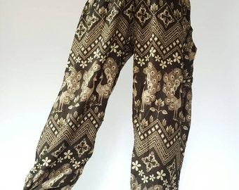 SM0101 Thai Genie Pants Comfy Trouser, Gypsy Pants Rayon Pants,Aladdin Pants Maxi Pants Boho Pants