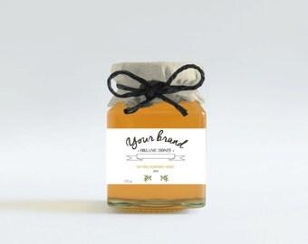 Custom honey labels, Honey favors, Customizable jar labels, Printable honey tags, Honey jar labels, Honey tags, Custom Honey packaging