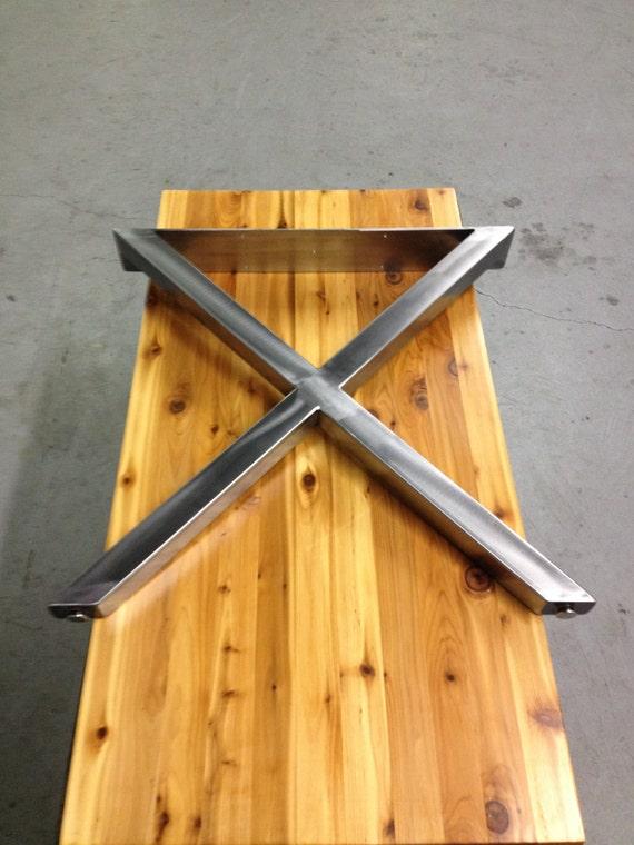 x metal table legs brushed nickel finish 2 x 2. Black Bedroom Furniture Sets. Home Design Ideas