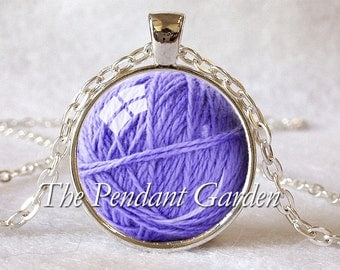 BALL OF YARN Pendant Knitter's Necklace Ball of Yarn Necklace Knitter's Gift for Knitter Knitting Jewelry Knitting Gift Choice of Colors