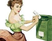Postage Paid stationery set