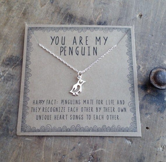 You Are My Penguin Necklace Silver Layering By Honeyverse