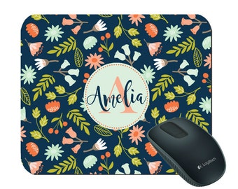 Personalized Mouse Pad, Mouse Pad, Flower Mouse Pad, Birthday Present, Mothers Day, Wedding gift, Mouse Pad, Personalized Gift, Wedding Gift