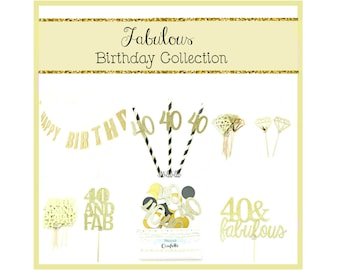 Fabulous Birthday Party Decoration Kit  - 40th Birthday, Birthday party kit, 40th birthday kit, 30th party kit, birthday party decorations