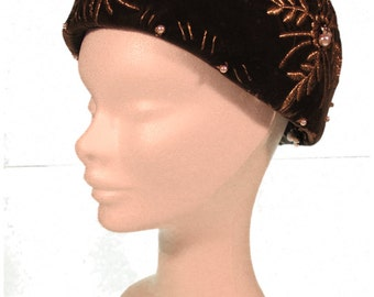 Brown Velvet Edna Wallace Hat