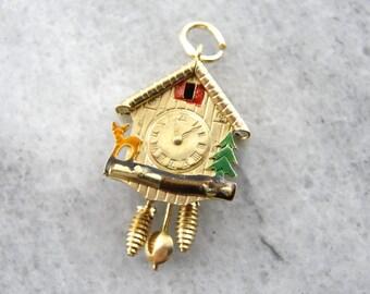 A Bavarian Christmas: Cuckoo Clock Vintage Charm or Pendant YN1RV1-P