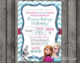 Frozen Birthday Invitation Digital Download