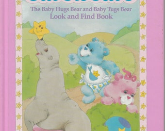 Vintage Care Bears Look and Find Book 1984 Parker Brothers