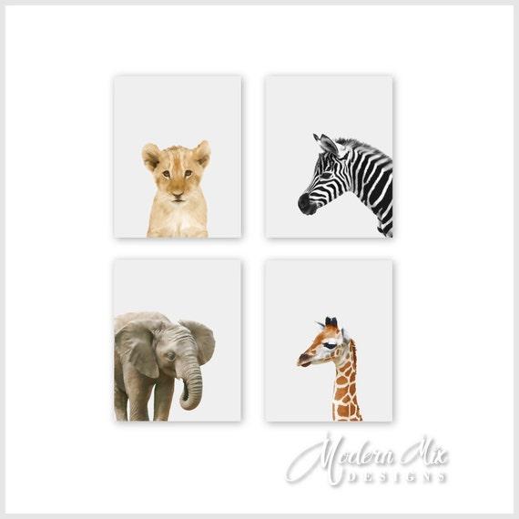 safari animal prints nursery decor baby animal by