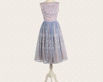 1950s Vintage sky blue dress