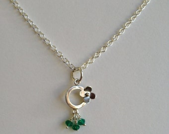 Sterling Silver Small Poppy Necklace